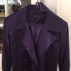 Jackets & Blazers - Designer Purple Trench Coat